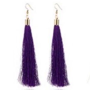 New Antho Purple Tassel Earrings